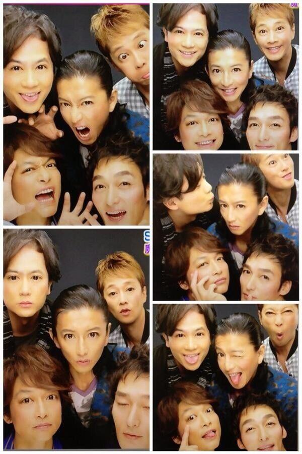 SMAP5 purikura (comedians)