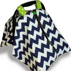 Car seat canopy navy chevron #chevron #stone #carseatcanopy #moocachoo #babyproduct #handcrafted #onlineshopping #mommy #navy #green #polka #summermusthave