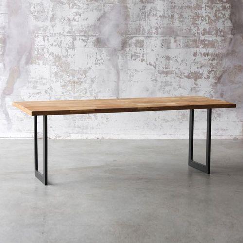 Décoclico - Table à manger rectangulaire en acier et teck naturel - 620,00€