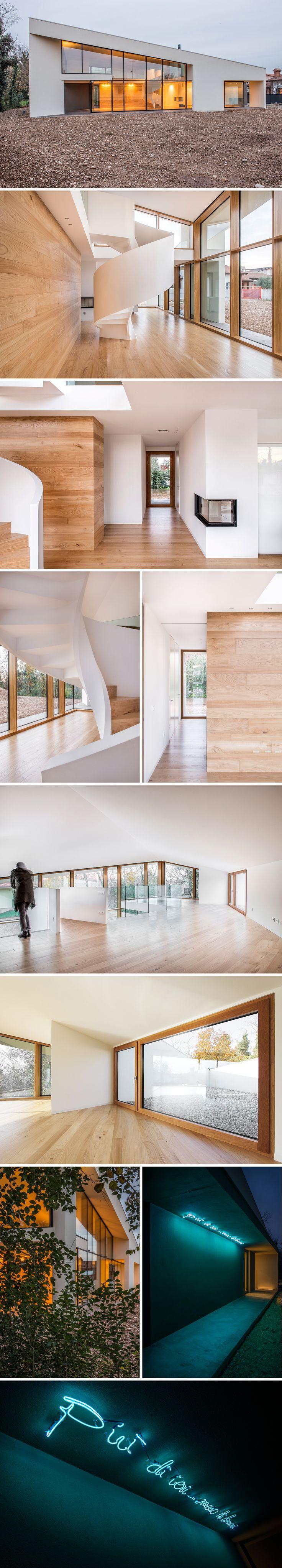 Casa PLS #wood #xlam #spiralstair
