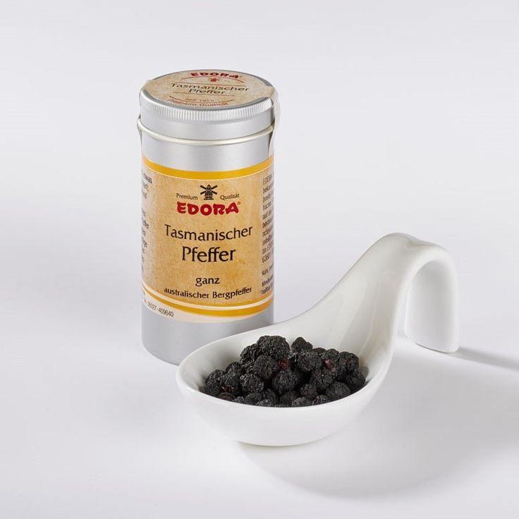 Australische Spezialität (australischer Bergpfeffer - ganze getrocknete Beerenfrüchte). Tasmanischer Pfeffer ist botanisch kein echter Pfeffer, sondern hat nur aufgrund der Schärfe seinen Namen erhalten. Die Beeren...