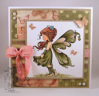 Great colors. Love the added butterflies!  Silver fairy in green