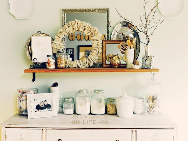 83 best pot shelf ideas images on pinterest for Pot shelf decorating ideas