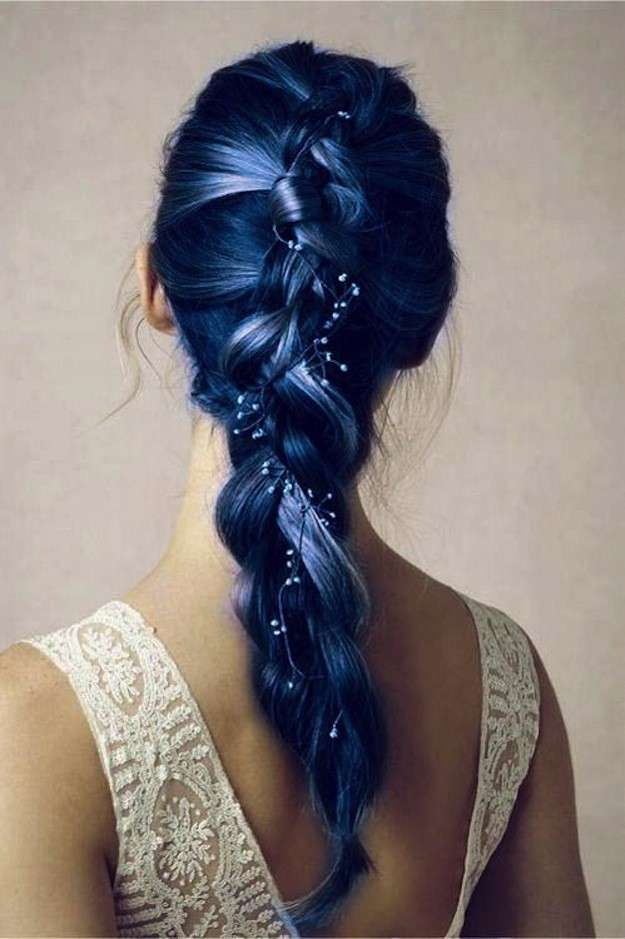 Tendencia con mechas de color: fotos de los looks - Mechas en tonos de azul