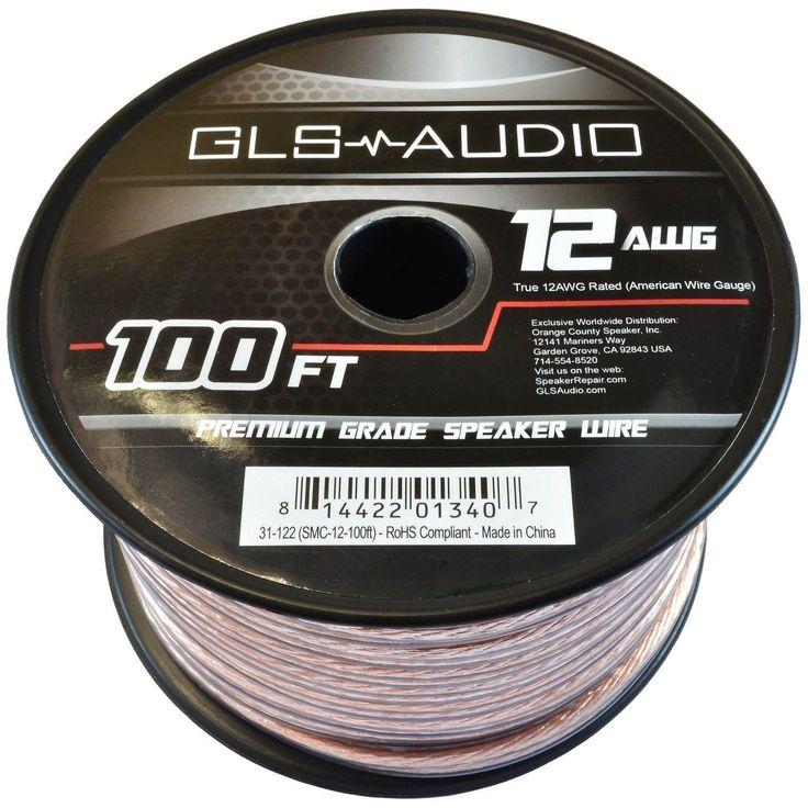 GLS Audio Premium 12 Gauge 100 Feet Speaker Wire -True 12AWG Speaker Cable 100ft