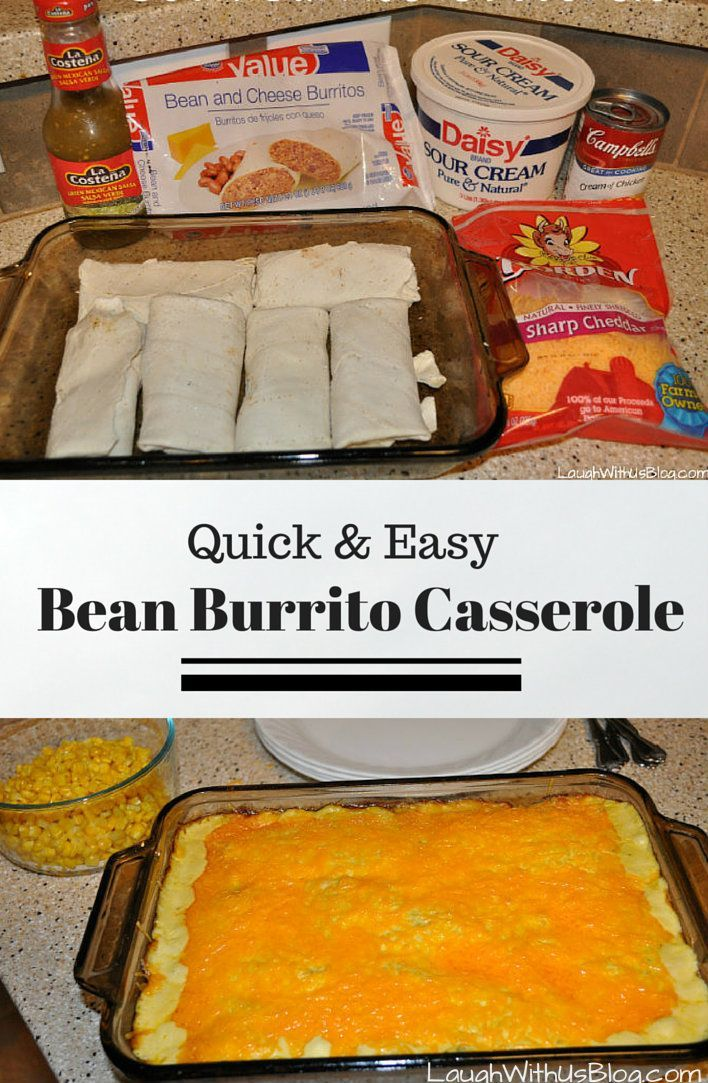 Bean Burrito Casserole--Such an easy weeknight meal to stir together and bake. Love this recipe!
