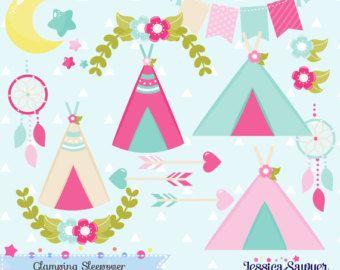 Imágenes Prediseñadas de Glamping para camping fiesta o pijamada, artesanías y