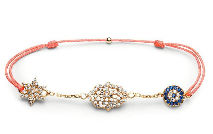 Charm'ed Bracelet by Charm'ed  Copenhagen - Star-Hand-Eye www.charmedcopenhagen.com - #charmed #bracelet #fatimashand #danishdesign  #jewellery #armbånd #smykker #charmed_cph #rikkehandrecknovod