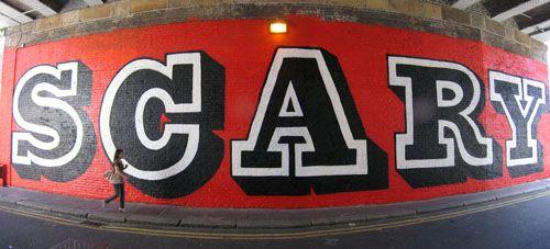 Eine scary graffiti london