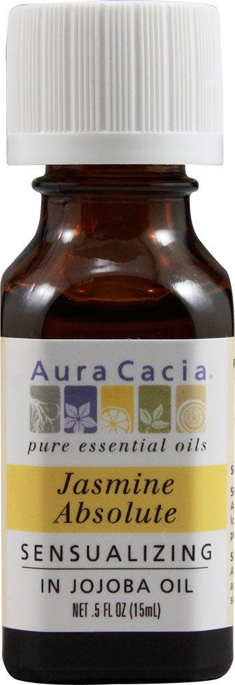 Aura Cacia Jasmine Absolute in Jojoba Oil -- 0.5 fl oz