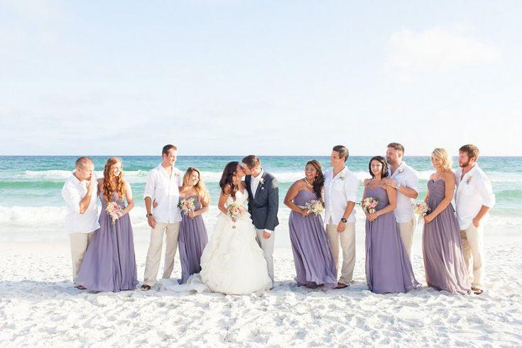 Purple and Gray Boho Chic Beach Wedding