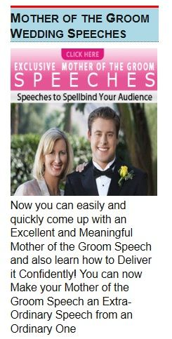 Mother of the Groom Speech Examples and Tips - oukas info