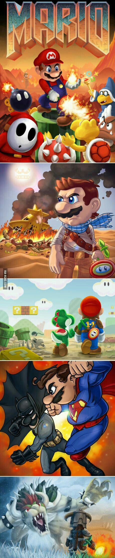 Mario reimagined in different games
