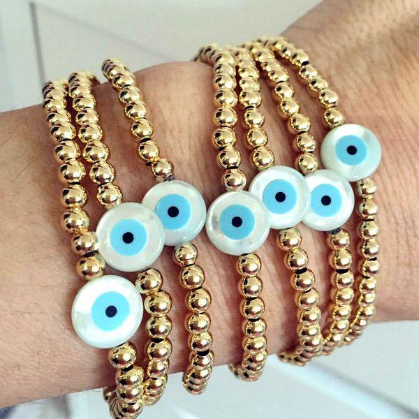 Bracelets By Vila Veloni Turkish Eye Turquoise