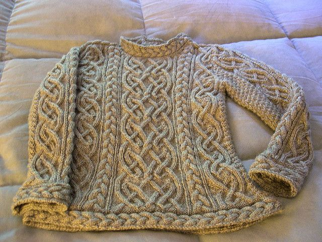 Ravelry: Velvetiger's St. Brigid Irish Fisherman Sweater