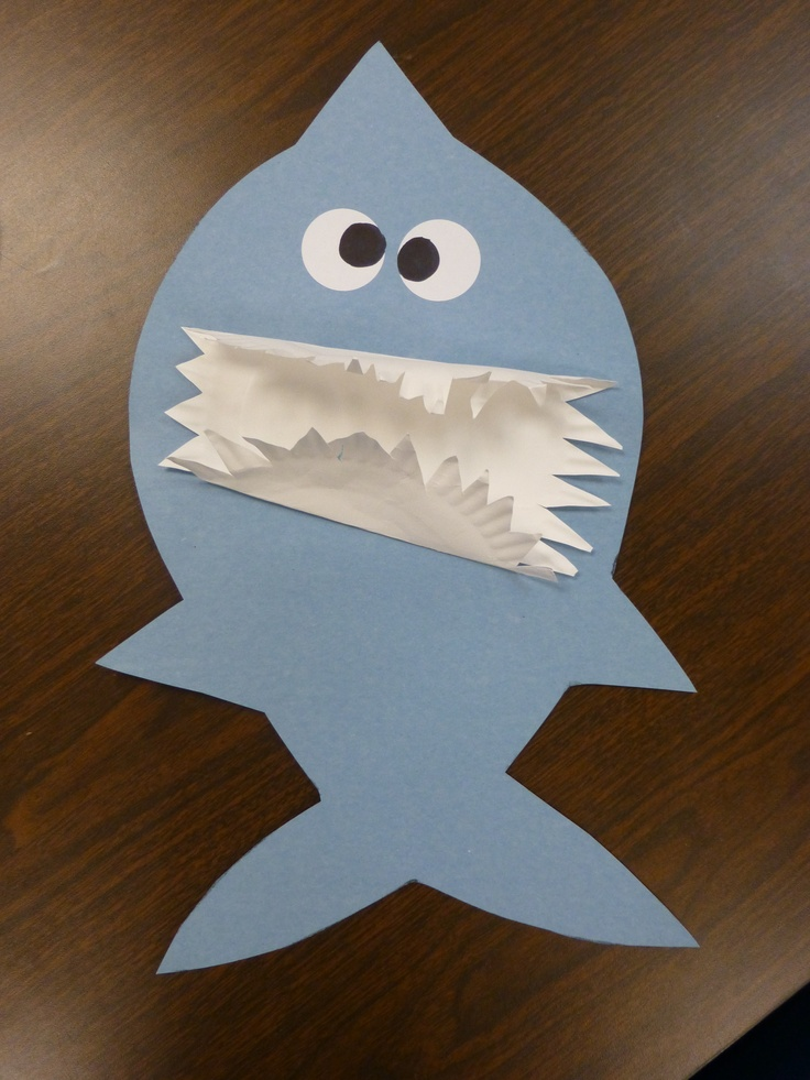 Hungry Shark Craft Use A Paper Plate For Teeth Kids