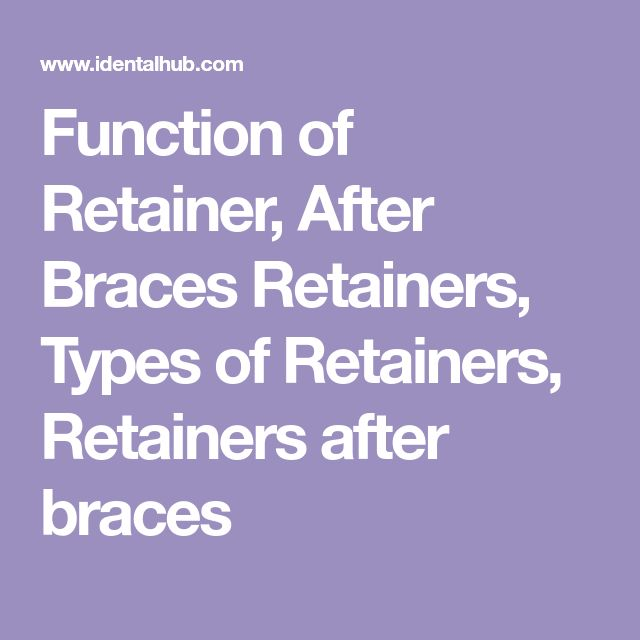 Function of Retainer, After Braces Retainers, Types of Retainers, Retainers after braces