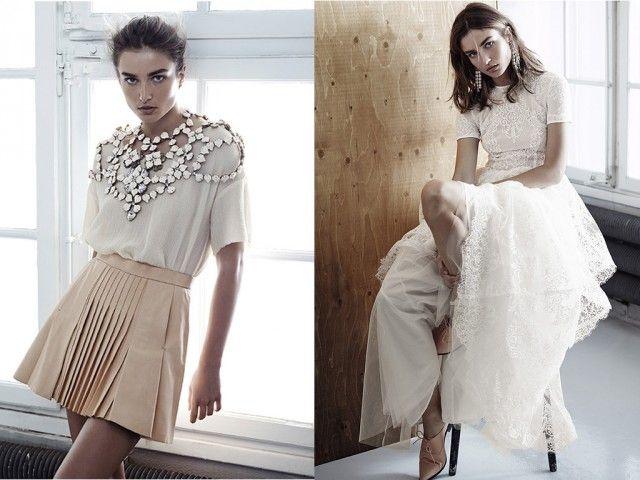 Motebloggen » Eksklusiv og bærekraftig H&M-kolleksjon. Mote, trender, H&M conscius exclusive, kjoler, bukser, topper, miljø, stoffer, blonder. fashion, lace, white, trends, dress,