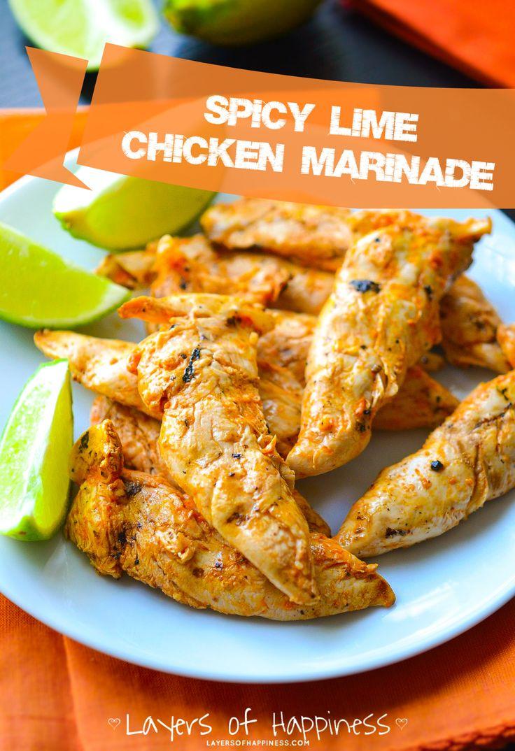 Lemon lime chicken marinade recipes