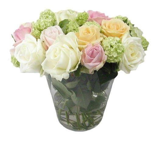 moderne boeketten | Modern rozen boeket inclusief vaas