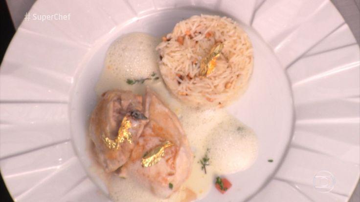 Frango com Molho de Coco e Arroz de Castanha de Caju do chef Koerper | Aves > Receitas com Frango | Super Chef Celebridades - Receitas Gshow