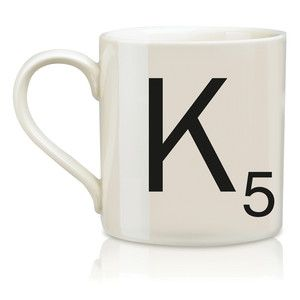 SCRABBLE Mug K....I like what it represents- # in my family with beginning letter of our last name