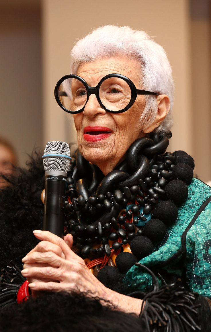 I'm going to go ahead and say it: Iris Apfel is a demi-god. With Coke bottle glasses, jewelry that weighs more than she does, and an overall flee-market-slash-desert-bazaar-chic look, it's easy to acknowledge that the woman is brimming with style wis