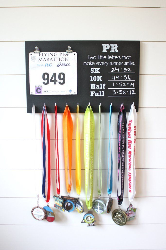 PR Race Bib and Medal Holder - 5K, 10K, Half, & Full - York Sign Shop - 2
