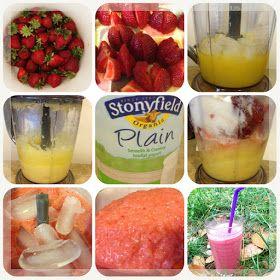 Zippers: Strawberry smoothie with yogurt and orange juice