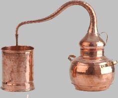 Destilación. Teoria y tipos de destilación. (Alambique de cobre ...