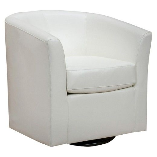 Daymian Faux Leather Swivel Club Chair - Christopher Knight Home : Target