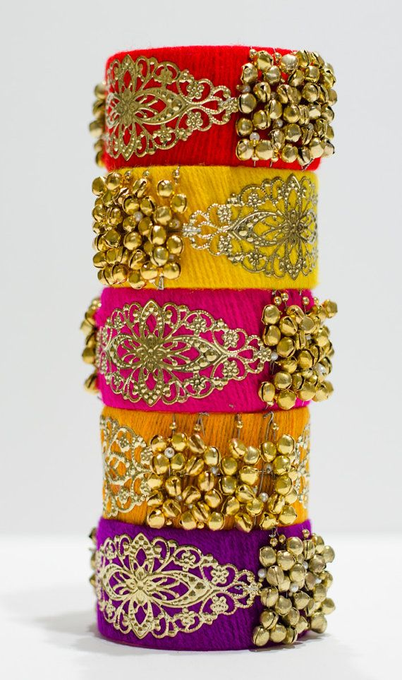 Silk thread bangles / Punjabi Big Bangles by TheLittleMagicBox