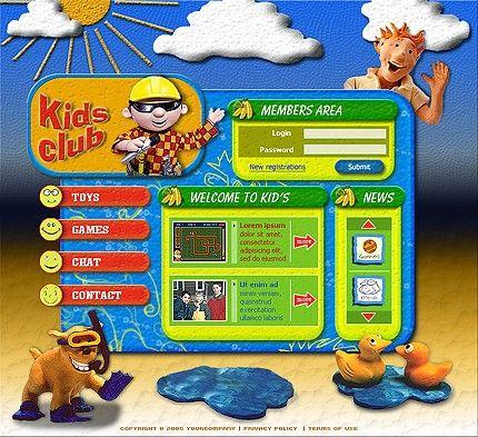 Kids Children Flash Templates by Adonis
