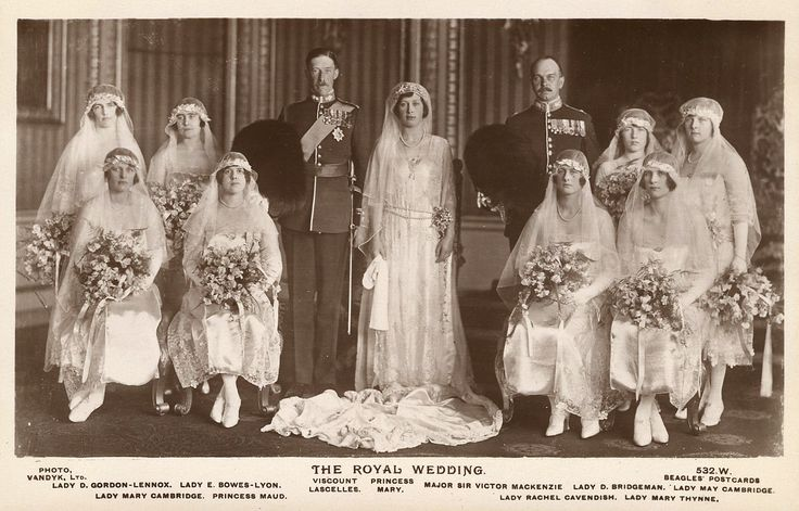 Mary Queen of England Grave | rppc330 4 the royal wedding the marriage of princess mary daughter of ...