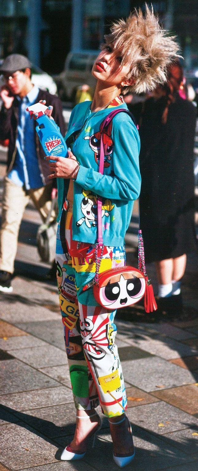 Powerpuff Girls x Moschino in Japan Vogue