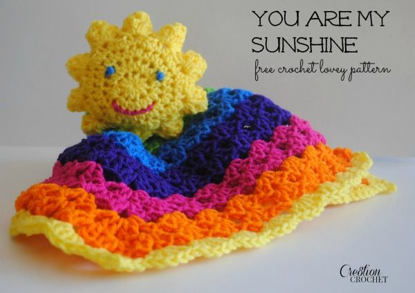You Are My Sunshine Lovey #freecrochetpattern #cre8tioncrochet My child will need this.