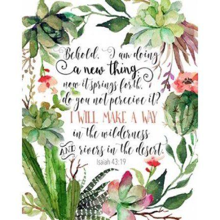 Isaiah 43-19 Floral Canvas Art - Tara Moss (24 x 30)