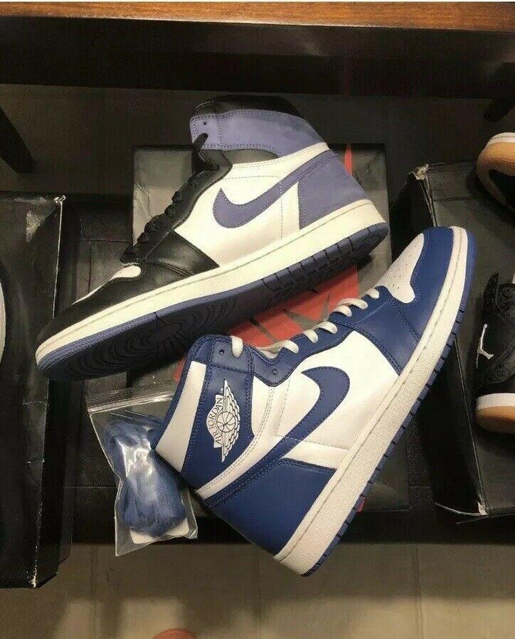Ebay Sponsored Nike Air Jordan 1 High Og Retro Blue Moon 555088