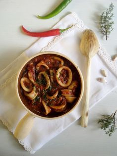 mediterranean calamari stew capers black olives tomatoes more calamari ...