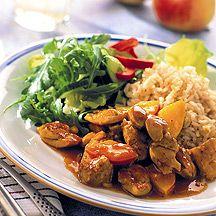 (4 pp) Curry- och äppelkyckling