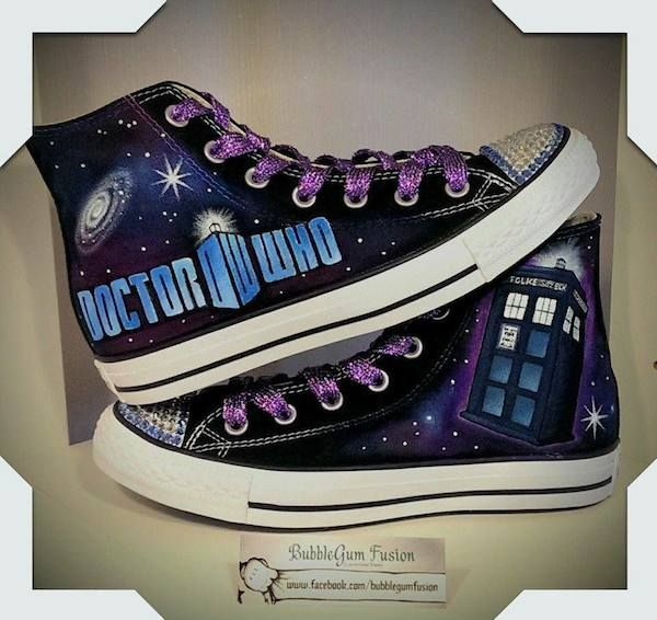 Doctor Who - These Custom Made, Hand Painted Sneakers Are A Geek's Dream