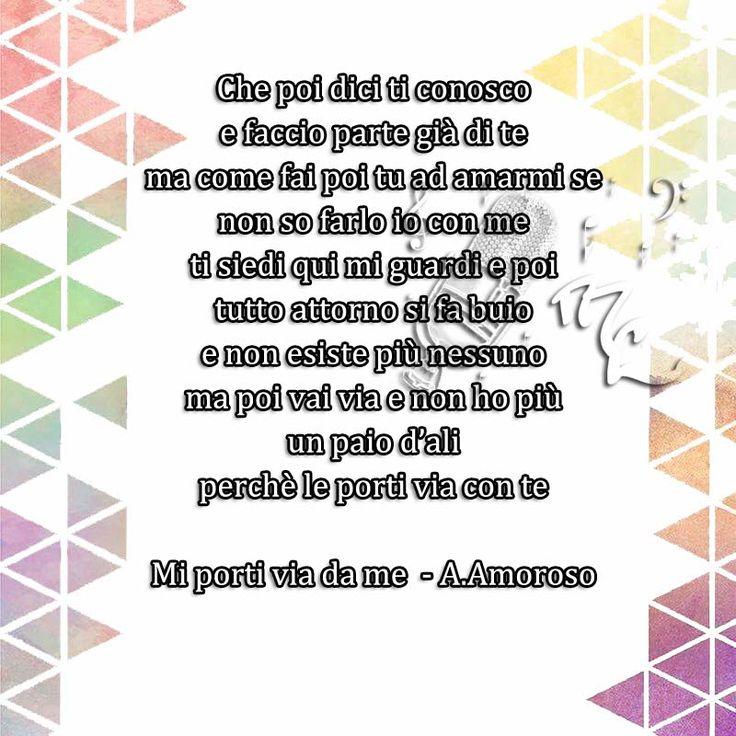 Mi porti via da me - Alessandra Amoroso  https://www.facebook.com/musicorner/