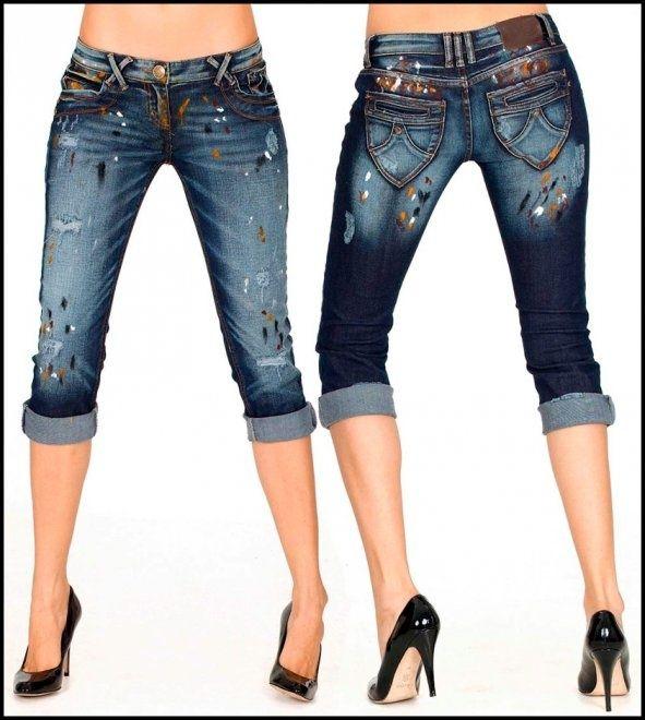 Как украсить запачканные джинсы?