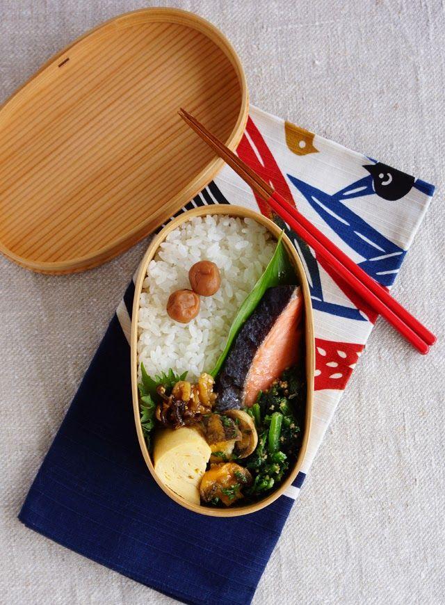 R journal: 鮭弁当・Grilled salmon bento