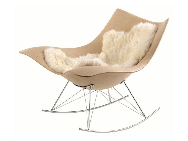 Rocking wooden armchair STINGRAY by FREDERICIA FURNITURE | design Thomas Pedersen