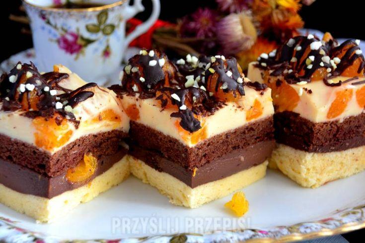 """ciasto """"Mandarynka w czekoladzie"""""""