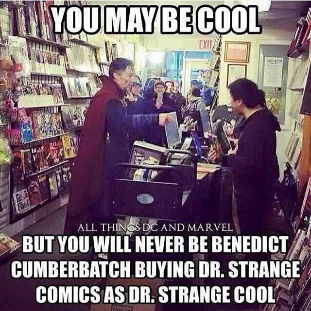 Dr. Strange Buying Comics