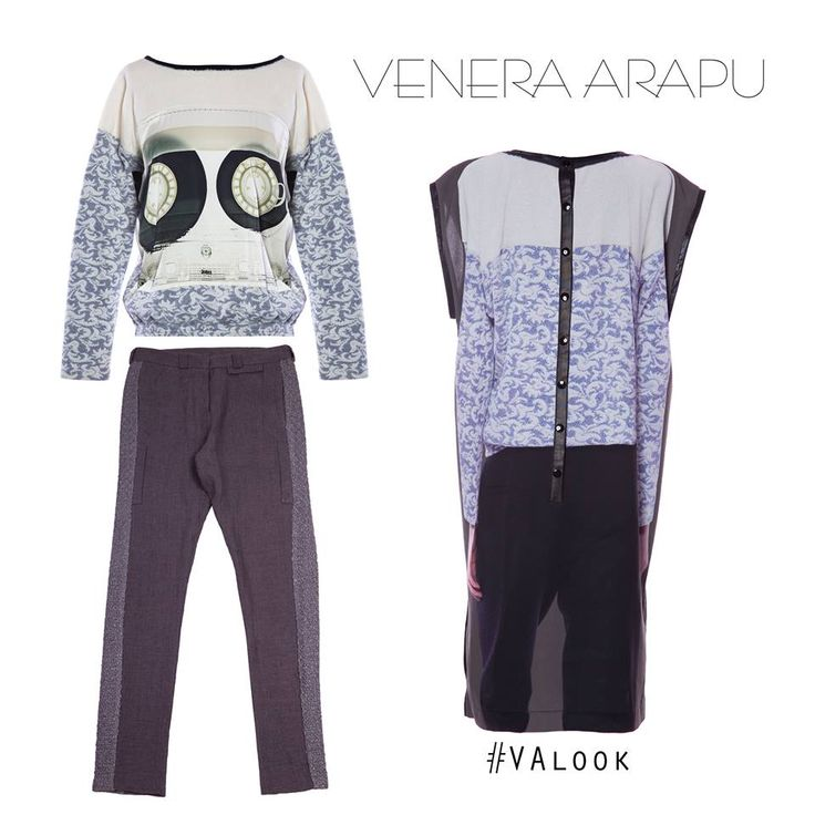 Illusion dress or retro top? Whatever you choose, the chic factor is included when you shop at Venera Arapu: http://bit.ly/fw15-rtw