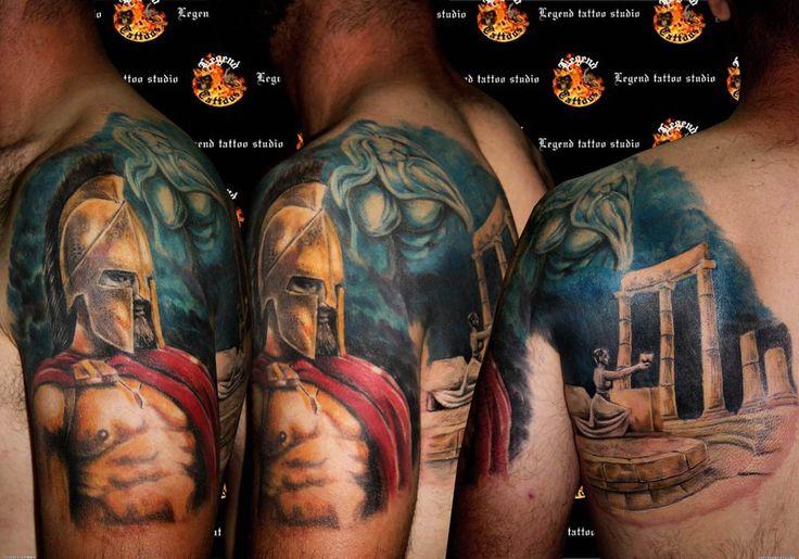 300 spartan tattoo designs and ideas on shoulder arm tatuajes pinterest tatuajes. Black Bedroom Furniture Sets. Home Design Ideas