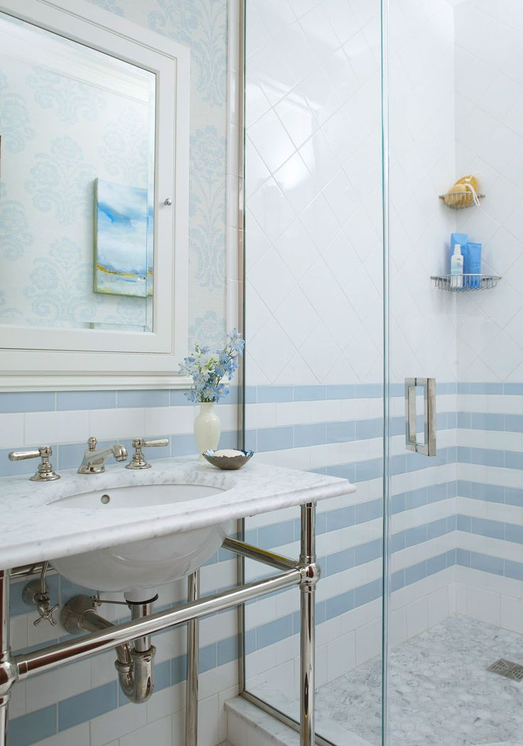 Decorating Ideas For Blue And White Bathrooms In 2019